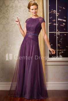 $138.09-Elegant Long Tulle Purple Mother Of The Bride Dress With Sleeves. http://www.ucenterdress.com/cap-sleeved-long-mother-of-the-bride-dress-with-beadings-and-pleats-pMK_301083.html. Tailor Made mother of the groom dress/ mother of the brides dress at #UcenterDress. We offer a amazing collection of 800+ Mother of the Groom dresses so you can look your best on your daughter's or son's special day. Low Prices, Free Shipping. #motherdress