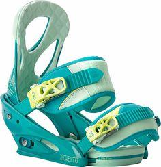#Burton Stiletto ReFlex Teal Women's Snowboard Bindings