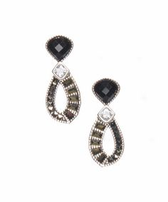 This Agate & Swarovski Marcasite Flamenco Drop Earrings by Judith Jack is perfect! #zulilyfinds
