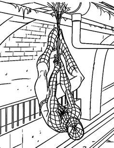 Spiderman Målarbilder för barn. Teckningar online till