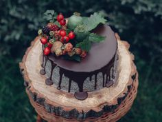 Maková torta s dulce de leche a čokoládovou ganache