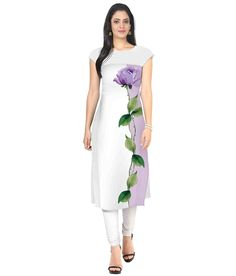 Crazy Women's Crepe Kurti (KURTI_102_White_42 XL) This Crepe Kurti is beautiful.This Designer Kurti will Give you the perfect Professional look..The Kurti is Designed with Digitally Printed work. This Kurti available in XL size but can be easily modified to lower sizes.  #hotshopworld #kurti #fashion #women #womenwear #ladiesfashion #ladies #crepekurti #professionalkurti #offickurti #officeoutfit #beautiful #pretty