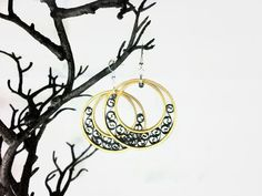 Paper Quilled Gold Hoop Earrings  paper by SweetheartsandCrafts