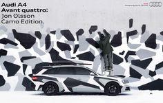 Audi building 50 camouflaged Jon Olsson Edition A4 Avant wagons