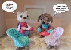 Chair crochet pattern
