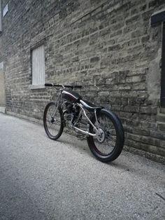 Bobber Inspired Motorized Bicycle