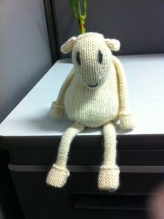 Gilbert - link to free knitting patterns for sheep toys on Rowan - on Lyndieloop's Blog at http://lyndieloop.wordpress.com/2012/03/06/gilbert/