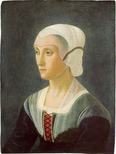 Portrait of Lucrezia Tornabuoni at the national gallery in Washington, D. In Lucrezia was married to Piero di Cosimo de' Medici,(Piero the Gouty) son of Cosimo de' Medici, a wealthy banker from Florence. Die Renaissance, Renaissance Kunst, Renaissance Portraits, Renaissance Paintings, Italian Renaissance, National Gallery Of Art, European History, Women In History, Michelangelo