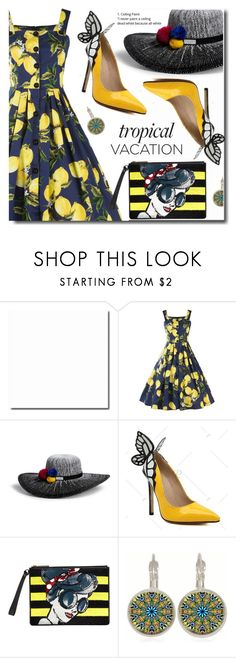 """Colors"" by soks ❤ liked on Polyvore featuring Henri Bendel, Alice + Olivia and vintage"