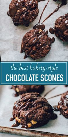 These triple chocolate scones are dark, rich, and super chocolatey with bits of white and milk chocolate. They taste like a really good chocolate cake! Best Chocolate Cake, Chocolate Desserts, White Chocolate, Chocolate Pudding, Baking Recipes, Dessert Recipes, Oven Recipes, Breakfast Recipes, Best Bakery