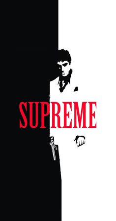 Scarface x Supreme Split IPhone Wallpaper
