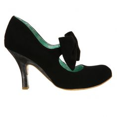 black suede bowed mary janes,