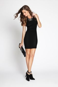 GUESS Sleeveless Ponte and Faux-Leather Bodycon Dress – Online Exclusive  Body Hugging Dress 0dcbd118000