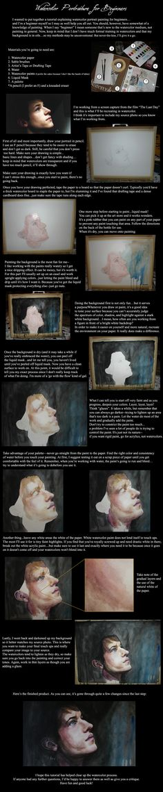 One artist's watercolor painting process.