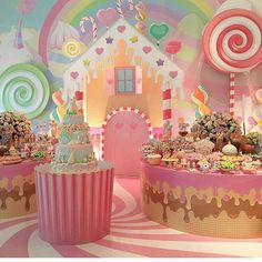 Decor Party Birthday Candy Land Ideas For 2019 Candy Theme Birthday Party, Candy Land Theme, Candy Party, Birthday Party Decorations, 1st Birthday Parties, Themed Parties, Candy Decorations, Deco Restaurant, Candyland