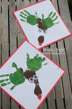 Christmas In July Reindeer Prints Hand And Foot Painting