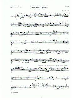 todoinstrumento/partiturasgratis: por una caveza tango violin 1º