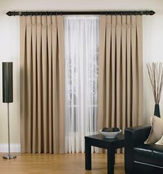 Decoration: Pleat Curtain Curtains Rods Lacy Knitted Fabric Glass Window Treatment Frame Brown Wood Grey Harlow Inverted Aluminum Gold Color Iron Brass Bronze Silver Wall Stained White Wooden Floor: Varieties Of Curtains That Can Modernize The Window Treatment