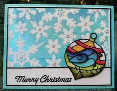 Christmas card using ECD Peel Off nr 2536 Christmas Ornaments
