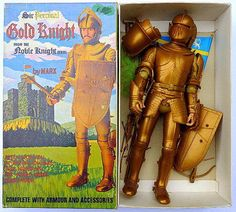 Sir Percival, the Gold Knight. This is the British version; identical to the American Sir Gordon. Vintage Toys 1960s, 1960s Toys, Gi Joe, Childhood Toys, Childhood Memories, Big Blue Whale, Godzilla Toys, Toys Shop, Toy Soldiers