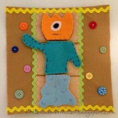 Little Miss Stitcher: Build a Monster Quiet Book Pages