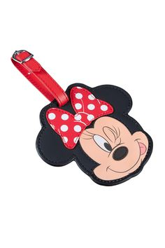 Disney Wonder - Minnie Mouse Luggage Tag #Disney #Samsonite #MinnieMouse #Minnie #Mouse #Travel #Kids #School #Schoolbag #MySamsonite #ByYourSide