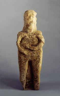 Celtic Limestone Female Figure, BC 100 to AD 100. A Celtic goddess, perhaps the Welsh deity Modron or the protectress of horses, Epona. She probably once held fruits symbolic of her fecundity and maternity. The Celts believed in a mother Goddess who presided over mortals, and visualised the gods themselves as belonging to and being controlled by a great divine mother. The Celtic goddesses are embedded in the folk memory and perpetuated in the tales and topographical legends of the country.
