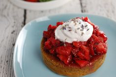 "'Lavender Gin Strawberry Shortcake' from Kathy @HealthySlowCooking.com - May's ""Family Favorite Dessert"" entry"