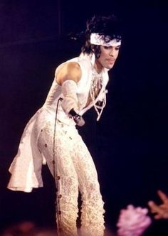 White lace Prince outfit