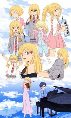 Miyazono kaori Sad Anime, Me Me Me Anime, Anime Love, Your Lie In April, Art Manga, Anime Art Girl, Hikaru Nara, Miyazono Kaori, Ghibli
