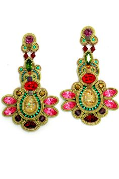 Dori Csengeri earrings | AIBIJOUX  Gioielli soutache  | #DoriCsengeri…