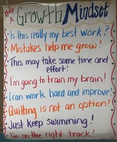 We teach a growth mindset at our school. It is pretty awesome to discuss this with your students! They get it!