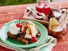 With a pinch of instant coffee, Ree's chocolate-chip cookie makes for the perfect base for her sundae.
