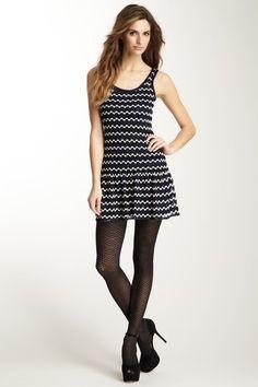 Crochet Dress with Pleated Skirt