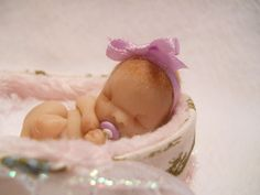 Hand Sculpted Miniature Baby Girl
