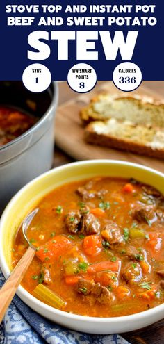 Dig into a Healthy Bowl of this Low Syn Beef and Sweet Potato Stew - a hearty filling winter warmer meal Slimming World Beef Recipes, Cooking Recipes, Healthy Recipes, Healthy Dinners, Free Recipes, Sw Meals, Slimming Eats, Stewed Potatoes, Warm Food