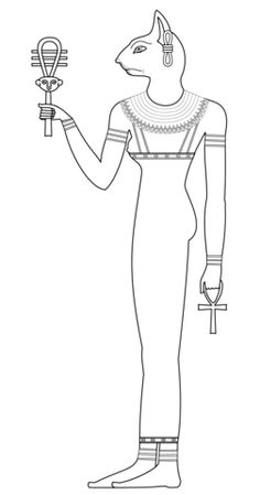 Bastet Coloring page