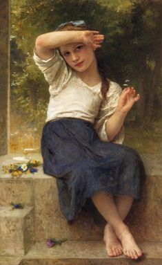 William Adolphe Bouguereau - Marguerite
