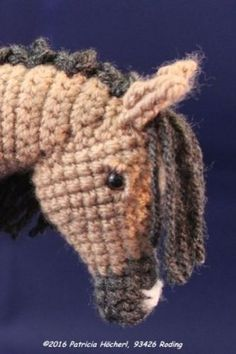 Häkelanleitung Pferd Falbe - Pat´s funny Pets & Wolldesign