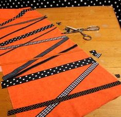 Halloween Ribbon Table Runner | FaveCrafts.com