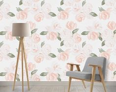 Your walls are screaming for this gorgeous watercolor floral wallpaper! This PVC free, woven wallpaper is a dream to work with. Easy to apply and completely repositionable. Stick On Wallpaper, Usa Wallpaper, Toile Wallpaper, Nursery Wallpaper, Peel Off Wallpaper, Kids Wallpaper, Watercolor Floral Wallpaper, Watercolor Design, Barbie Diorama