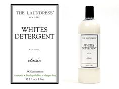 "Natürliches Waschshampoo für Weißes ""The Laundress Whites Detergent"" Cosmetic Labels, Label Design, Biodegradable Products, Vodka Bottle, Shampoo, Packaging, Cleaning, Cosmetics, Dark"