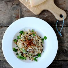 -Mushroom Risotto with Goat Cheese | There's just enough goat cheese ...