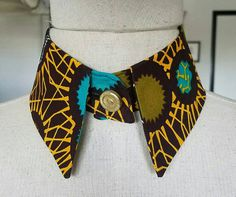 African Print Collar, Ankara *** Other Fabrics Available ***   *** Matching Clutch Purse Available ***