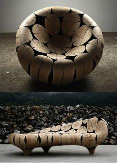 Wooden furniture by Jaehyo Lee