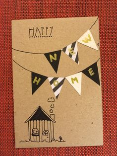 Tuparit tupaantuliaiset kortti diy onnea uuteen kotiin uusi koti  Housewarming party card happy new home 2017 Cards Diy, House Warming, Diy And Crafts, Bullet Journal, Happy, Ideas, Ser Feliz, Thoughts, Being Happy