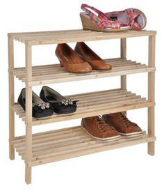 Vintage XXXL Schuhregal mit B den helles Holz Schuhst nder Schuh Regal Schuhablage Shoe Rack Amazon