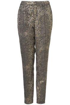 topshop snake jacquard trousers