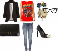 Marvel outfits;) Everything except those earrings!!!