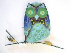 Vintage Jere Enamel Owl Wall Sculpture Signed by NeatoKeen on Etsy, $248.00